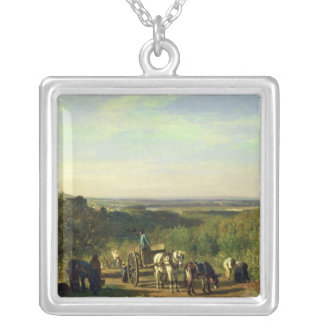 View from the Hilltops of Suresnes Silver Plated Necklace