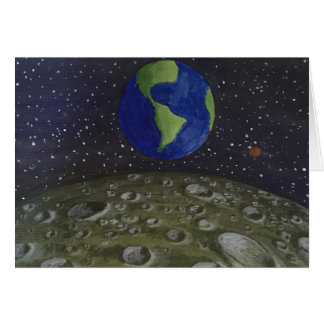 View From The Moon - Greetings Card