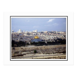 View from the Mount of Olives Postcard