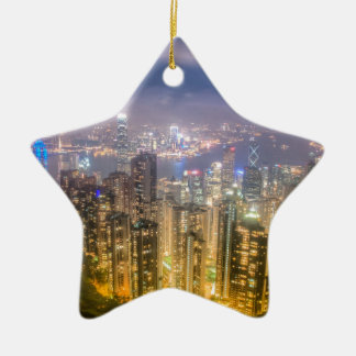 View from The Peak, Hong Kong Ceramic Ornament