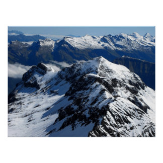 View from the Schilthorn mountain Poster