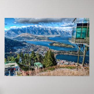View from the Skyline Gondola, Queenstown, NZ Poster