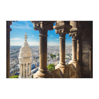 View from the top of Basilique du Sacre Coeur Stretched Canvas Prints
