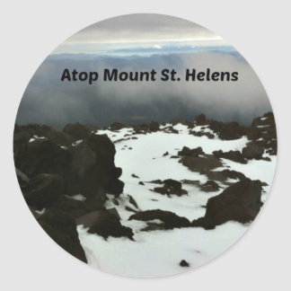 View from the top of Mt. St. Helens Classic Round Sticker