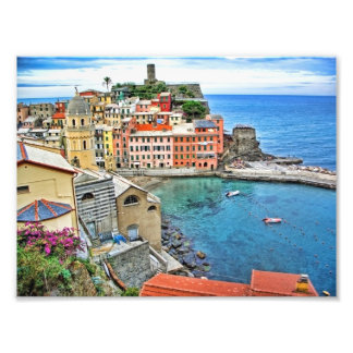 View from the trail- Vernazza Italy Photo Print