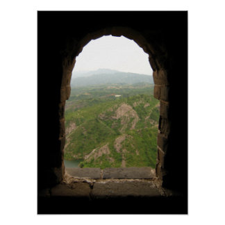 View from the wall of China Poster