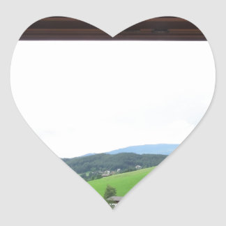 View from the window heart sticker