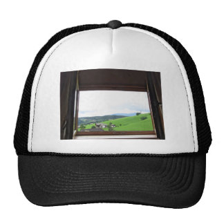 View from the window trucker hat