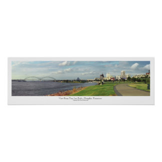 View From Tom Lee Park - Memphis, TN Poster