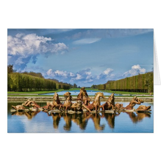 View From Versailles, France, Greeting Card