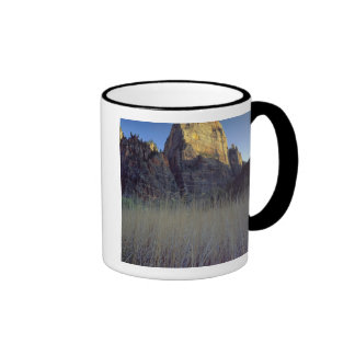 View from Virgin River flood plain, Zion Canyon Ringer Coffee Mug