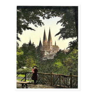 View from wall towards Mary s Church Lubeck Germ Postcards