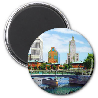 View from Waterplace Park, Providence, RI Magnet