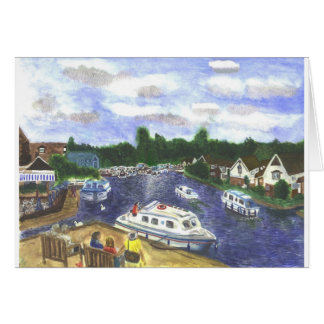 View from Wroxham Bridge Norfolk Broads Card