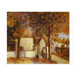 View in Moret by Alfred Sisley Postcard