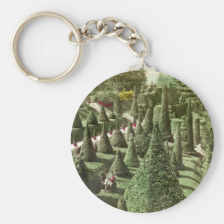 View in Mr. Hunnewell's Grounds, Wellesley, Mass Basic Round Button Keychain