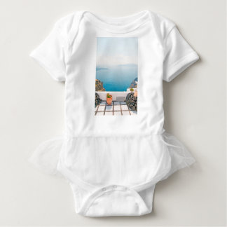 View in Santorini island Baby Bodysuit