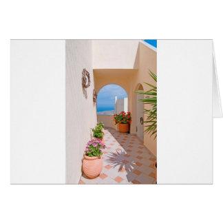 View in Santorini island Card