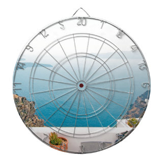 View in Santorini island Dartboard
