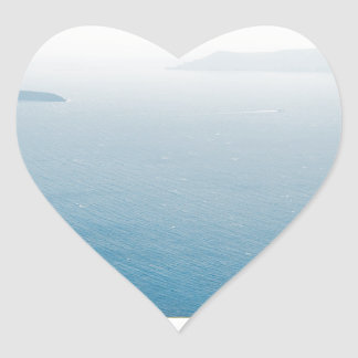 View in Santorini island Heart Sticker