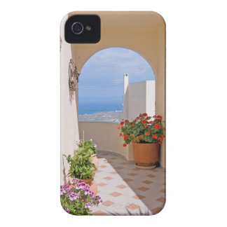 View in Santorini island iPhone 4 Cover