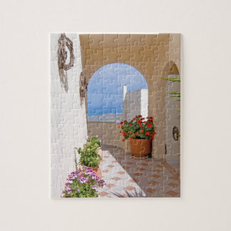 View in Santorini island Jigsaw Puzzle