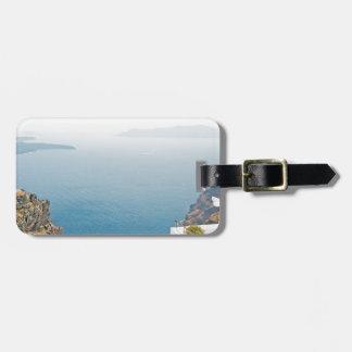 View in Santorini island Luggage Tag