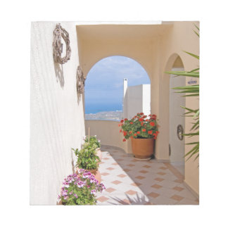 View in Santorini island Notepad