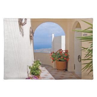 View in Santorini island Placemat