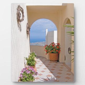 View in Santorini island Plaque