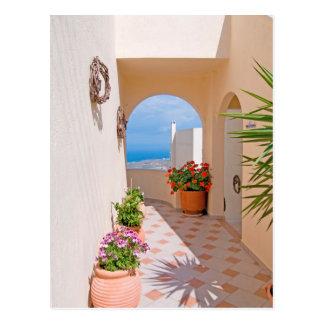 View in Santorini island Postcard