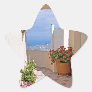 View in Santorini island Star Sticker