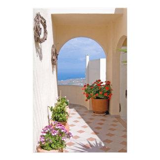 View in Santorini island Stationery