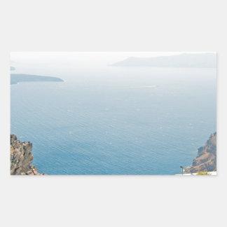 View in Santorini island Sticker