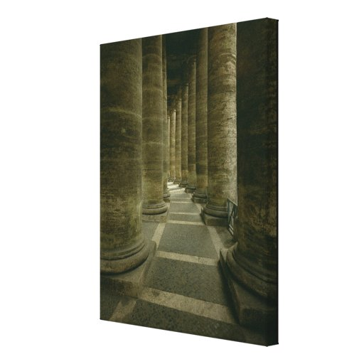View inside the colonnade stretched canvas prints