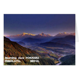 View Landscape  : HIMALAYA POKHARA NEPAL Card