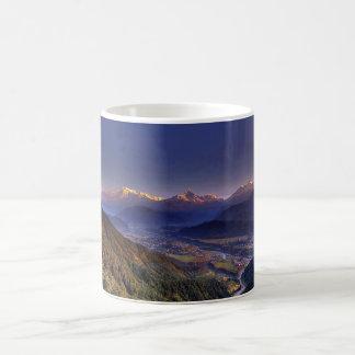 View Landscape  : HIMALAYA POKHARA NEPAL Basic White Mug