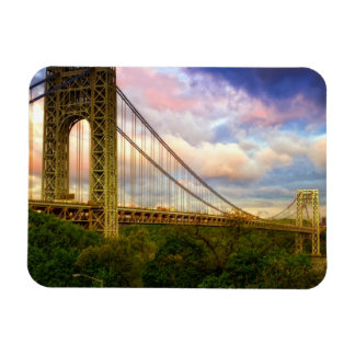 View looking South - West from Manhattan Rectangular Photo Magnet