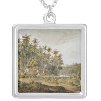 View near Point du Galle, Ceylon Silver Plated Necklace