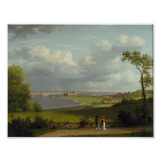 View North of Kronborg Castle by Christoffer Wilhe Poster
