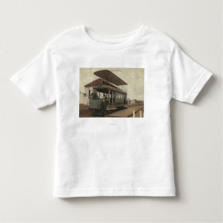 View of a Double Decker Cable Car Toddler T-shirt