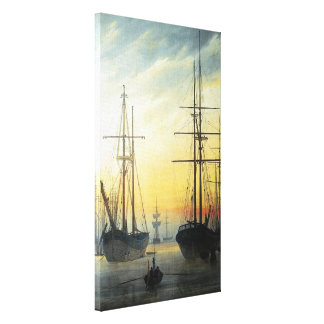 View of a Harbour - Caspar David Friedrich Canvas Print