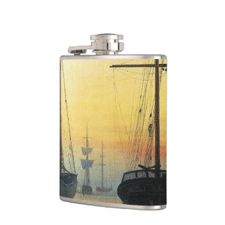 View of a Harbour - Caspar David Friedrich Flask