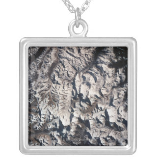 View of a Mountain Range Silver Plated Necklace