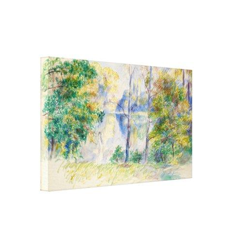 View of a Park by Pierre-Auguste Renoir Canvas Print