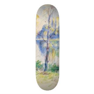 View of a Park by Pierre-Auguste Renoir Skate Deck