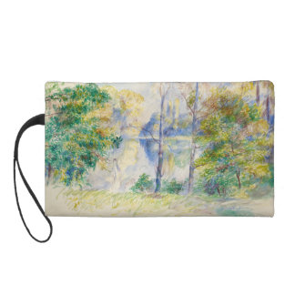 View of a Park by Pierre-Auguste Renoir Wristlet