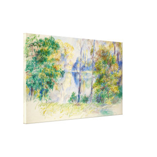 View of a Park by Renoir, Large Stretched Canvas Print