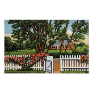 View of a Quaint Residence Poster