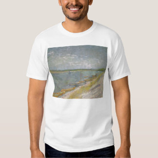 View of a River w Rowing Boats by Vincent van Gogh Tshirts